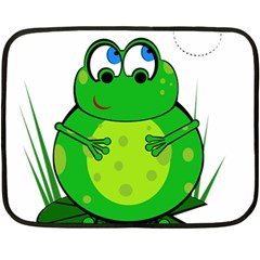 Green Frog Fleece Blanket (mini)