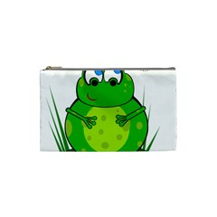 Green Frog Cosmetic Bag (Small)