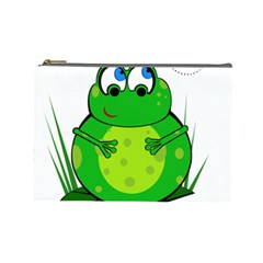 Green Frog Cosmetic Bag (Large)