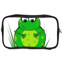 Green Frog Toiletries Bags 2-Side