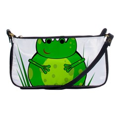 Green Frog Shoulder Clutch Bags