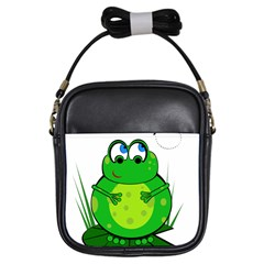 Green Frog Girls Sling Bags