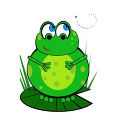 Green Frog 5.5  x 8.5  Notebooks