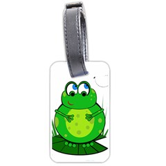 Green Frog Luggage Tags (Two Sides)