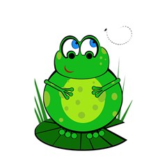 Green Frog Shower Curtain 48  x 72  (Small)