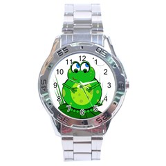 Green Frog Stainless Steel Analogue Watch