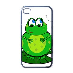 Green Frog Apple iPhone 4 Case (Black)
