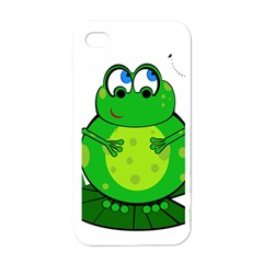 Green Frog Apple Iphone 4 Case (white)