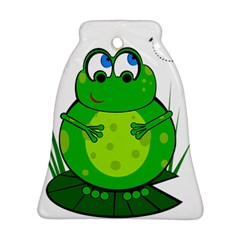 Green Frog Bell Ornament (2 Sides)