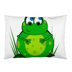 Green Frog Pillow Case (two Sides)