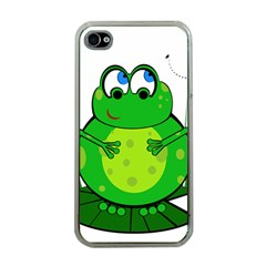 Green Frog Apple iPhone 4 Case (Clear)