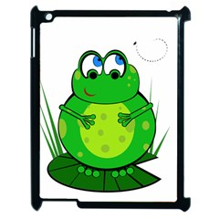 Green Frog Apple iPad 2 Case (Black)