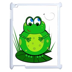 Green Frog Apple Ipad 2 Case (white)