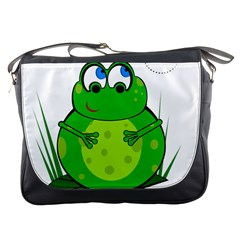 Green Frog Messenger Bags