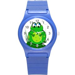 Green Frog Round Plastic Sport Watch (S)