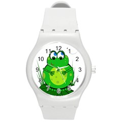 Green Frog Round Plastic Sport Watch (M)