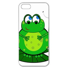 Green Frog Apple Seamless iPhone 5 Case (Clear)
