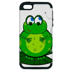 Green Frog Apple iPhone 5 Hardshell Case (PC+Silicone)