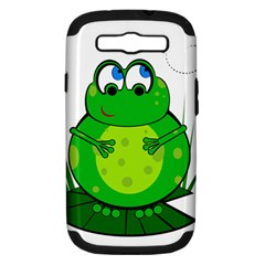 Green Frog Samsung Galaxy S Iii Hardshell Case (pc+silicone)