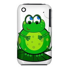 Green Frog Apple Iphone 3g/3gs Hardshell Case (pc+silicone)