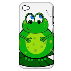 Green Frog Apple iPhone 4/4S Hardshell Case (PC+Silicone)
