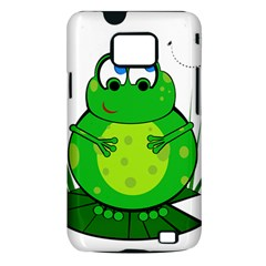 Green Frog Samsung Galaxy S II i9100 Hardshell Case (PC+Silicone)