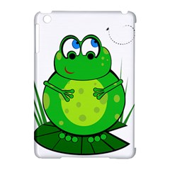 Green Frog Apple iPad Mini Hardshell Case (Compatible with Smart Cover)