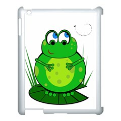 Green Frog Apple iPad 3/4 Case (White)
