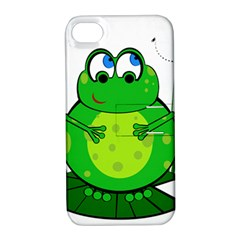 Green Frog Apple iPhone 4/4S Hardshell Case with Stand