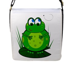 Green Frog Flap Messenger Bag (L)
