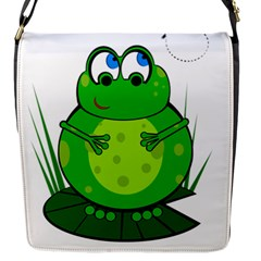 Green Frog Flap Messenger Bag (S)
