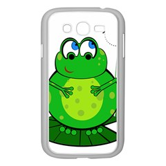Green Frog Samsung Galaxy Grand DUOS I9082 Case (White)