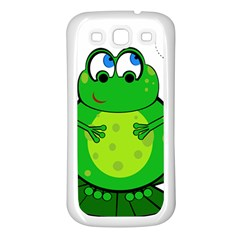 Green Frog Samsung Galaxy S3 Back Case (White)