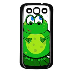Green Frog Samsung Galaxy S3 Back Case (Black)