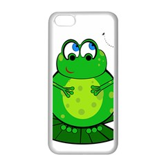 Green Frog Apple iPhone 5C Seamless Case (White)
