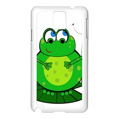 Green Frog Samsung Galaxy Note 3 N9005 Case (White)