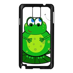 Green Frog Samsung Galaxy Note 3 N9005 Case (Black)