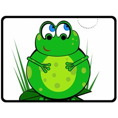 Green Frog Double Sided Fleece Blanket (large)