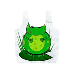 Green Frog Full Print Recycle Bags (S)