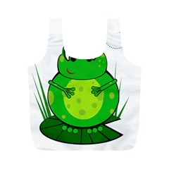 Green Frog Full Print Recycle Bags (M)