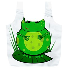 Green Frog Full Print Recycle Bags (l)