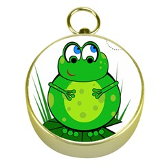 Green Frog Gold Compasses