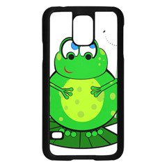 Green Frog Samsung Galaxy S5 Case (Black)