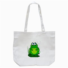 Green Frog Tote Bag (White)