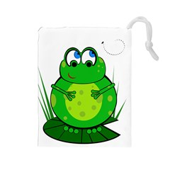 Green Frog Drawstring Pouches (Large)