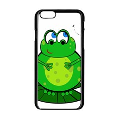 Green Frog Apple iPhone 6/6S Black Enamel Case