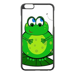 Green Frog Apple Iphone 6 Plus/6s Plus Black Enamel Case