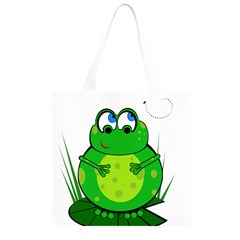Green Frog Grocery Light Tote Bag