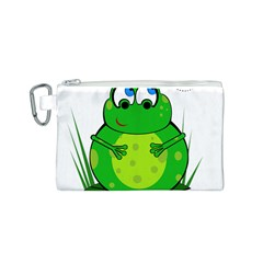 Green Frog Canvas Cosmetic Bag (S)