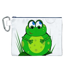 Green Frog Canvas Cosmetic Bag (L)